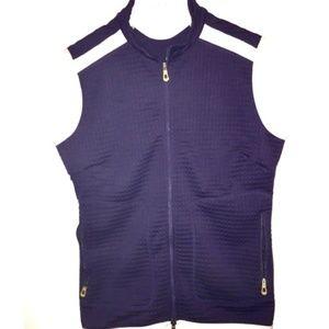 Nike Golf Vest Navy Blue  Zip Front Size Medium